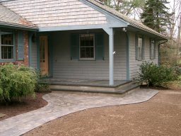 The shadetree company pavers for Bluestone front porch