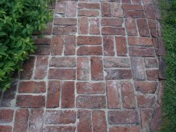 Another Easy Pattern Option Is The Basket Weave Set Here With Clay Pavers And Large Joints For A Rustic Look Sand Used This Project Contains